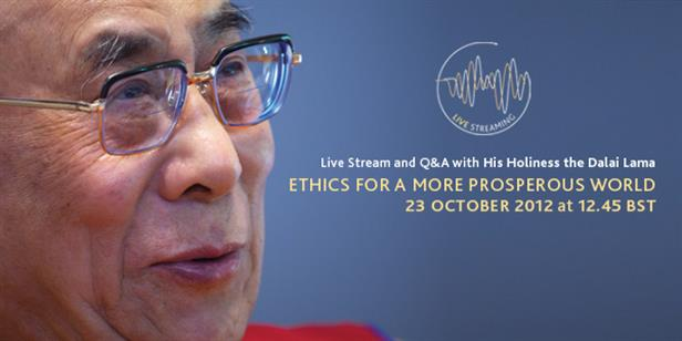 Live Stream and Q&A with His Holiness the Dalai Lama