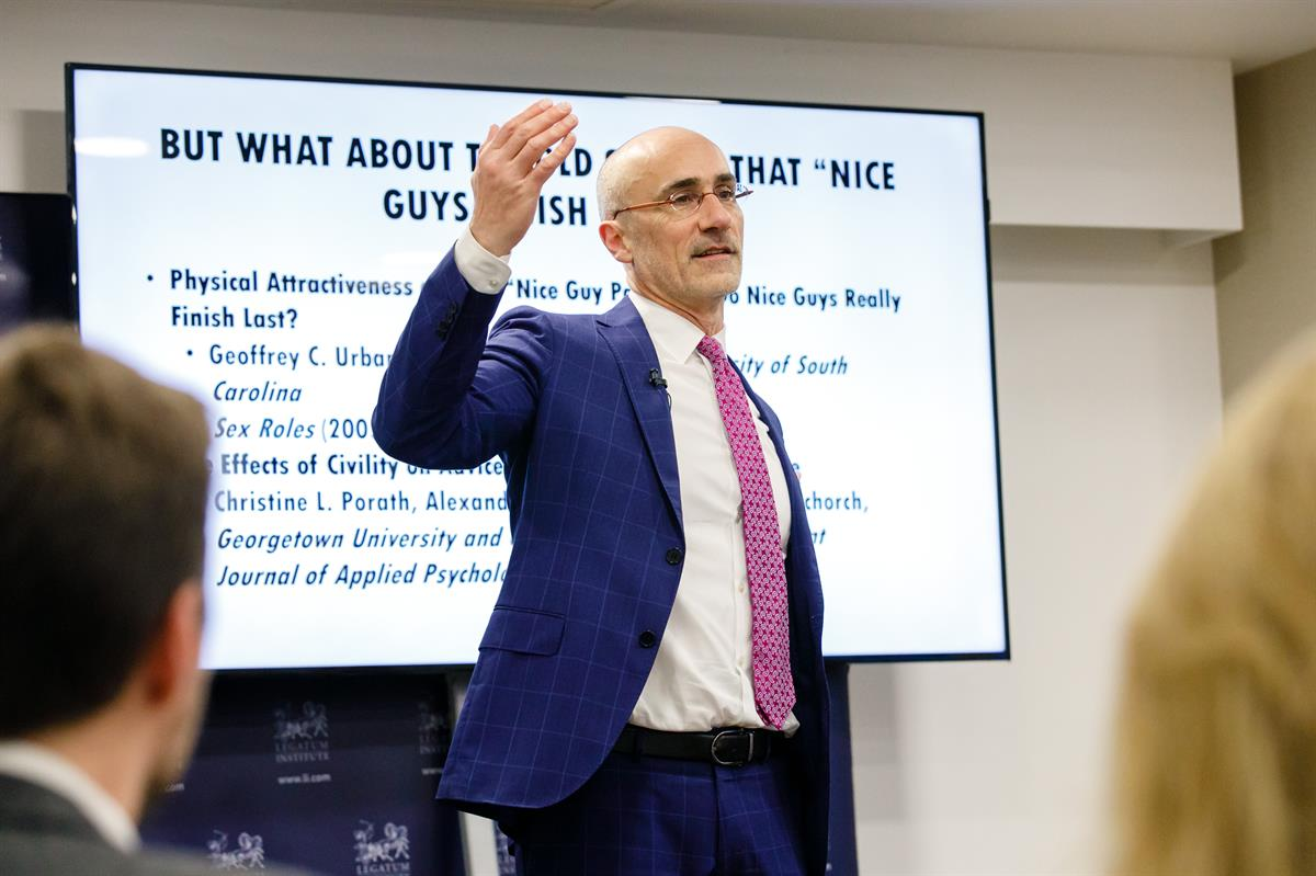The Legatum Institute hosts Arthur Brooks, President of the American Enterprise Institute