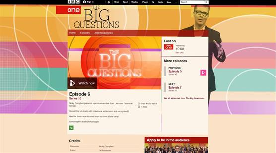 Cristina Odone appears on BBC 1's Big Questions